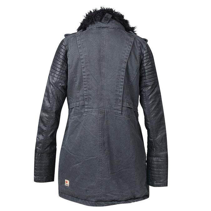 Dámská zimní bunda s kožešinovým límcem khujo, černá, 979-6023 - 26