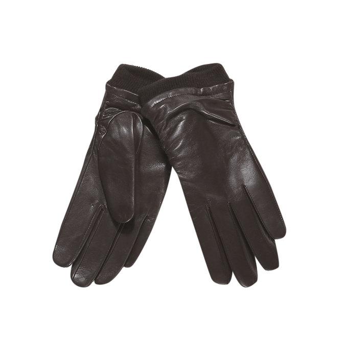 Kožené dámské rukavice bata, hnědá, 904-4107 - 13