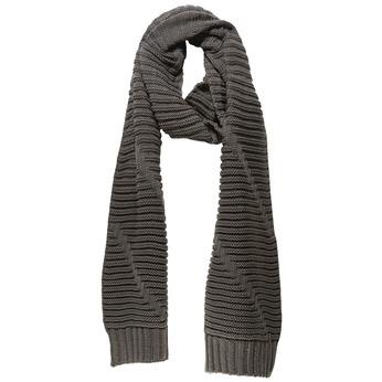 Pletená šála bata, šedá, 909-2393 - 13