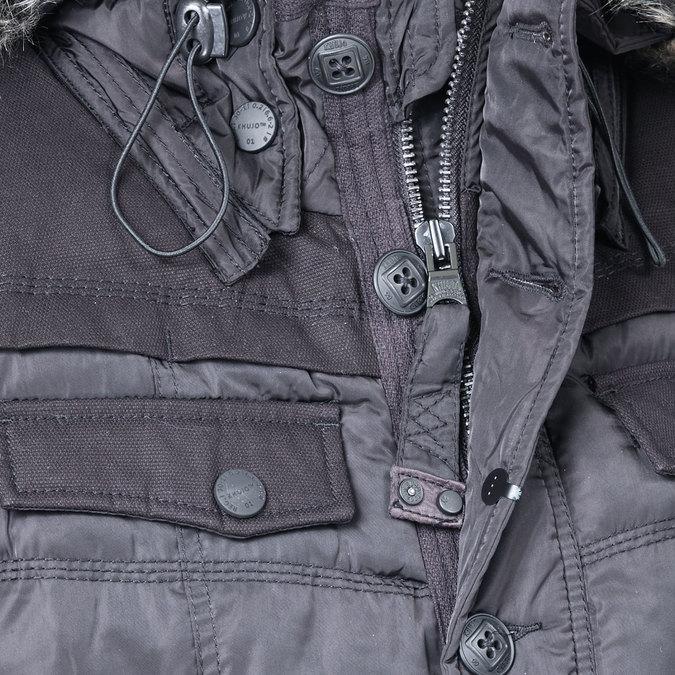 Delší pánská zimní bunda khujo, černá, 979-6032 - 16