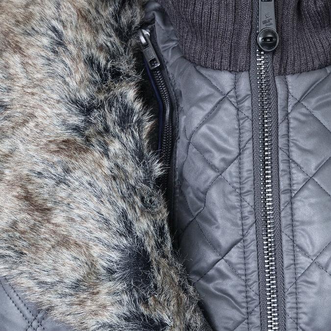 Dámská zimní bunda s kožešinovým límcem khujo, hnědá, 979-4001 - 16