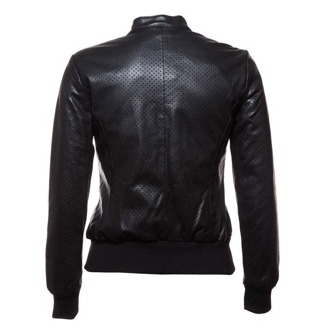 Dámská bunda s perforací bata, černá, 971-6172 - 26