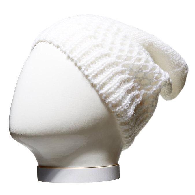 Pletená čepice bata, bílá, 909-1372 - 13