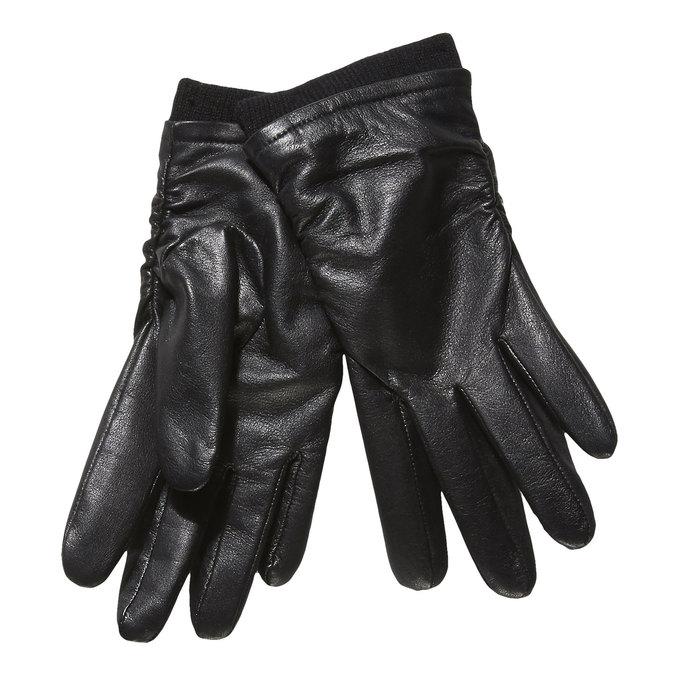Kožené dámské rukavice bata, černá, 904-6107 - 13