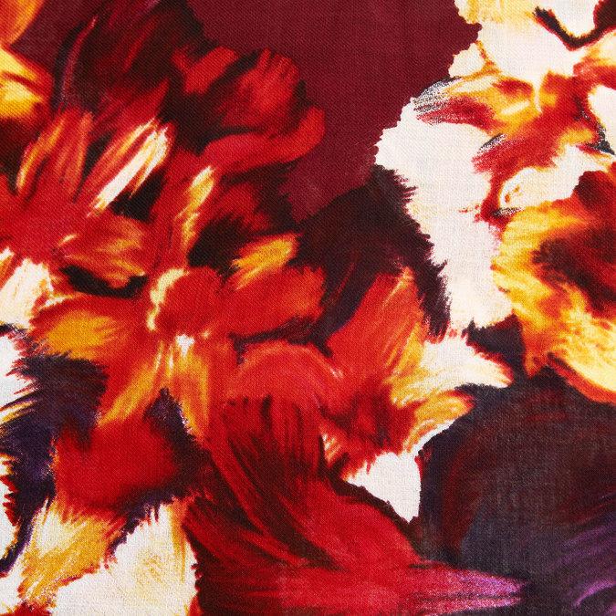 barevný kruhový šátek fraas, červená, 929-5029 - 26