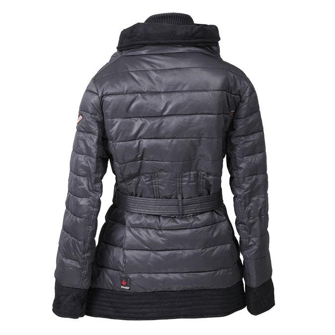 Dámská zimní bunda s páskem khujo, šedá, 979-2013 - 26