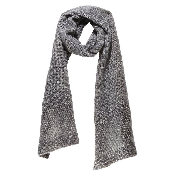 Pletená šála bata, šedá, 909-2374 - 13