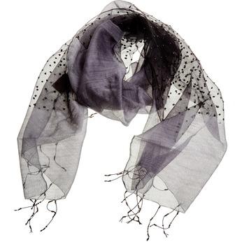Šátek s puntíky bata, šedá, 909-2554 - 13