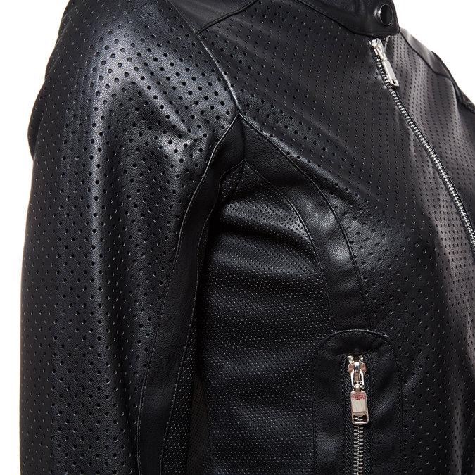 Dámská bunda s perforací bata, černá, 971-6172 - 16