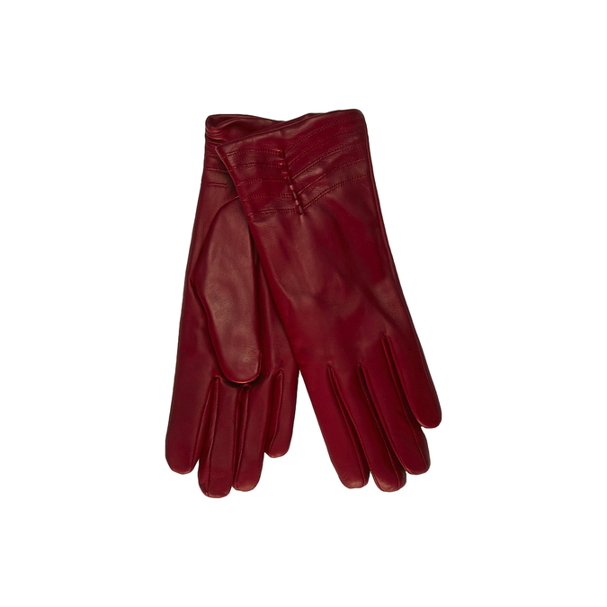 Dámské kožené rukavice junek, červená, 924-5022 - 13