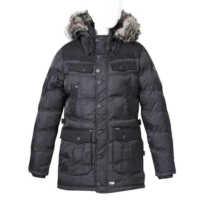 Delší pánská zimní bunda khujo, černá, 979-6032 - 13