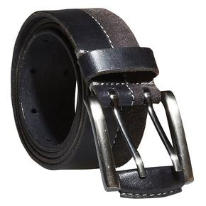 Pánský kožený opasek bata, černá, 954-6162 - 13