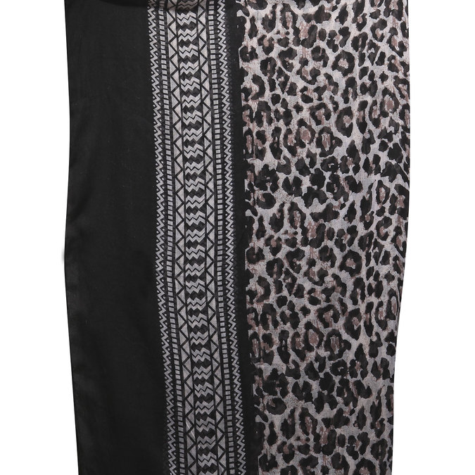 Dámský šátek bata, černá, 909-6316 - 26