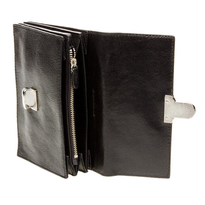 Kožená peněženka s přezkou vagabond, černá, 944-6119 - 16