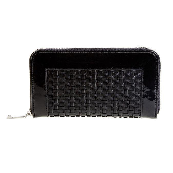 Dámská peněženka v pleteném designu bata, černá, 941-6132 - 26