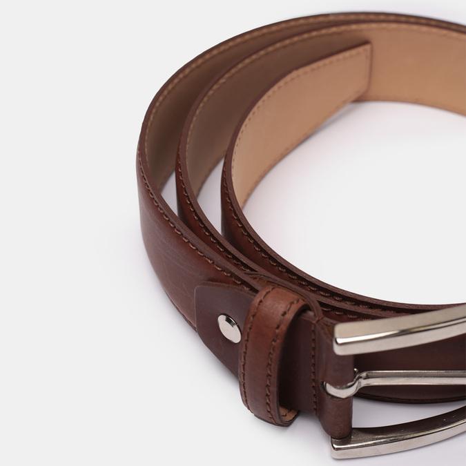 Kožený pánský opasek bata, hnědá, 954-3170 - 16
