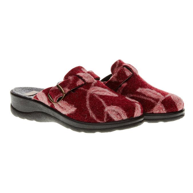 Domácí obuv bata, červená, 579-5221 - 26
