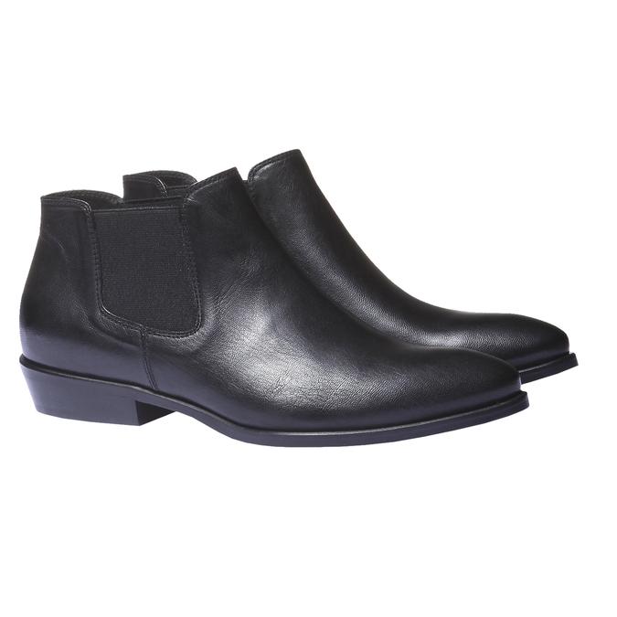 Kožené boty v Chelsea stylu bata, černá, 594-6106 - 26
