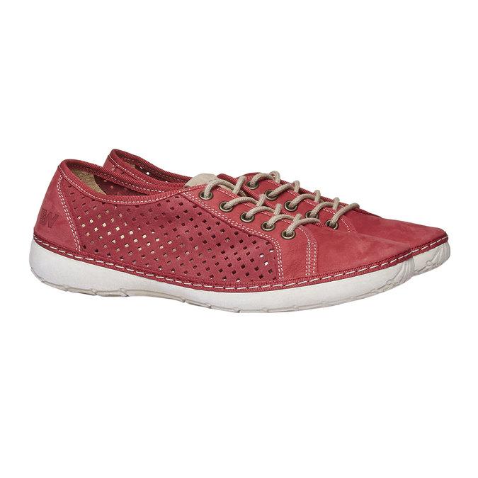 Kožené tenisky weinbrenner, červená, 546-5238 - 26