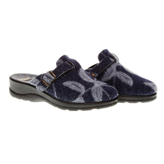 Domácí obuv bata, modrá, 579-9221 - 26