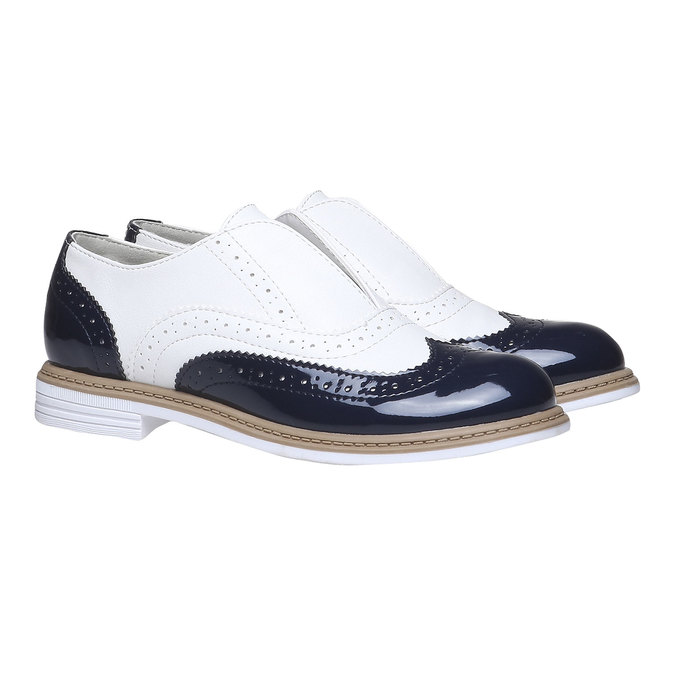 Dětské polobotky ve stylu Spectator shoes mini-b, černá, 321-6178 - 26
