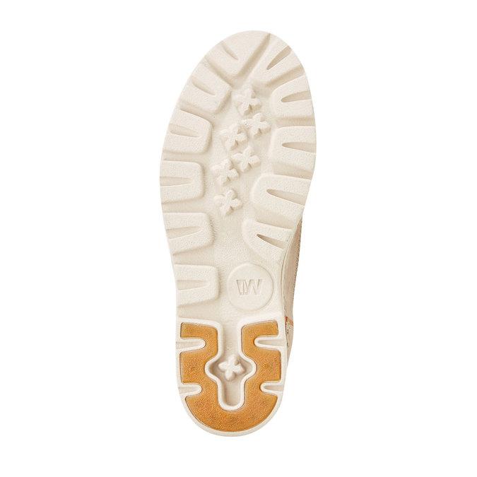 Kožené kotníčkové boty weinbrenner, béžová, 594-2531 - 26
