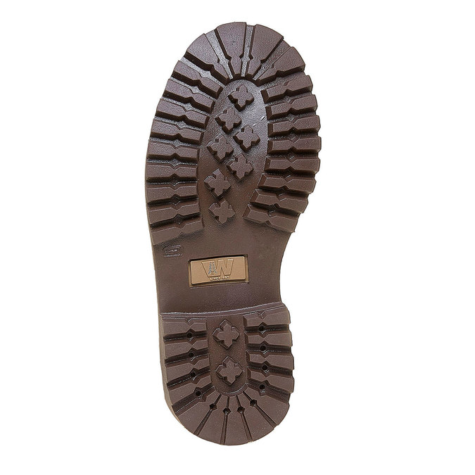 Dětská kožená obuv na výrazné podešvi weinbrenner-junior, hnědá, 396-8182 - 26