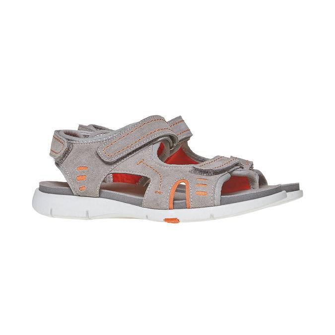 Dětské sandály flexible, šedá, 363-2188 - 26