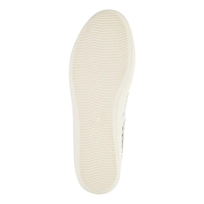 Kožené kotníčkové tenisky bata, bílá, 526-1130 - 26