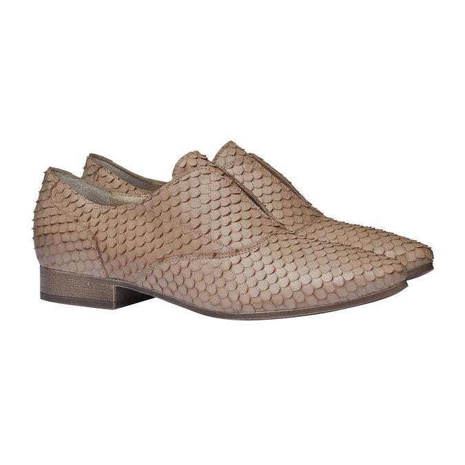 Dámské kožené polobotky bata, hnědá, 514-8212 - 26