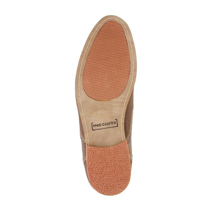 Kožené kotníčkové polobotky bata, hnědá, 826-3101 - 26