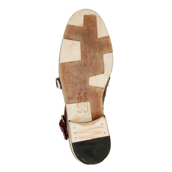 Pánská kožená obuv ve stylu Monk a-s-98, hnědá, 826-7001 - 26