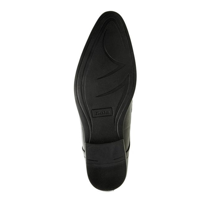 Pánské kožené polobotky bata, černá, 824-6834 - 26