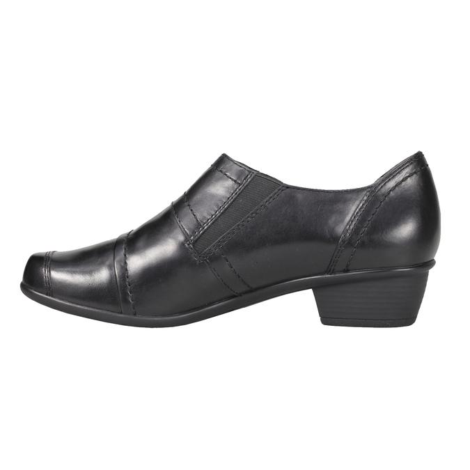 Komfortní kožená obuv bata, černá, 624-6113 - 15