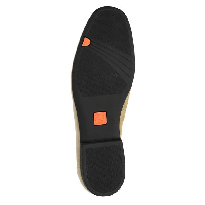 Pánské kožené mokasíny flexible, béžová, 853-8186 - 26