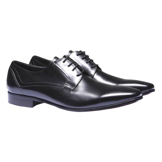Kožené polobotky v Derby stylu bata, černá, 824-6548 - 26
