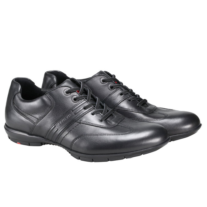 Kožené tenisky lloyd, černá, 824-6465 - 26