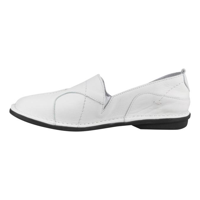 Dámská kožená obuv bata, bílá, 556-1100 - 16