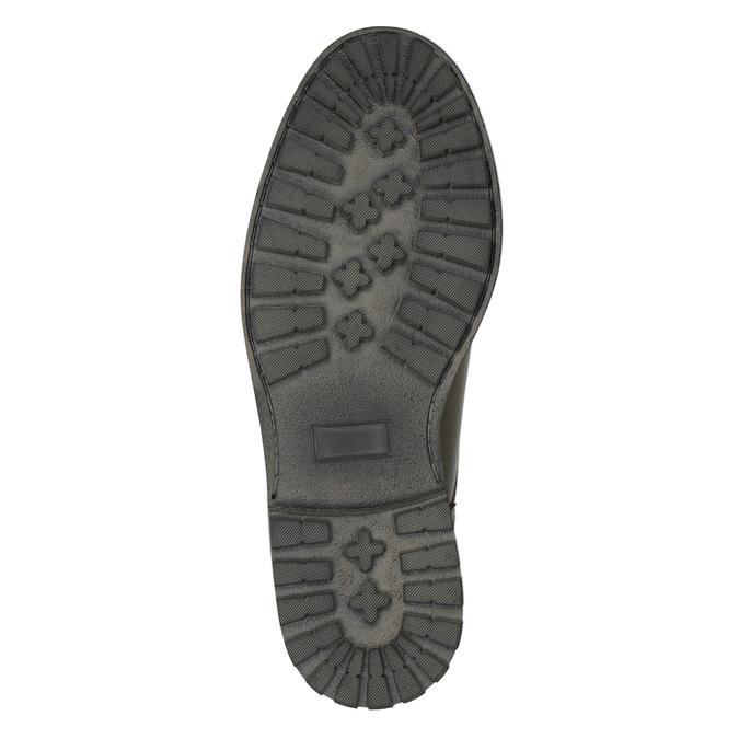 Kožené polobotky s výraznou podešví bata, hnědá, 826-4641 - 26