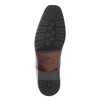 Pánské kožené polobotky bata, modrá, 824-9669 - 26