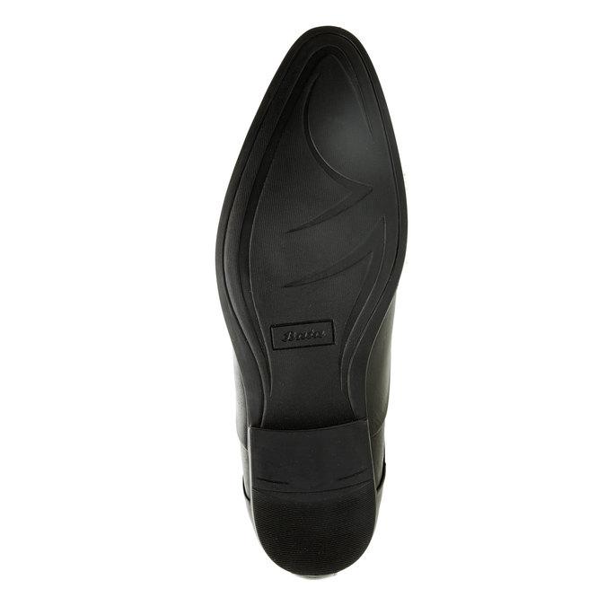 Kožené polobotky s pružením bata, černá, 824-6832 - 26