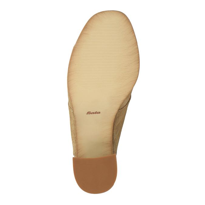Kožené nazouváky na širokém podpatku bata, hnědá, 763-3516 - 26