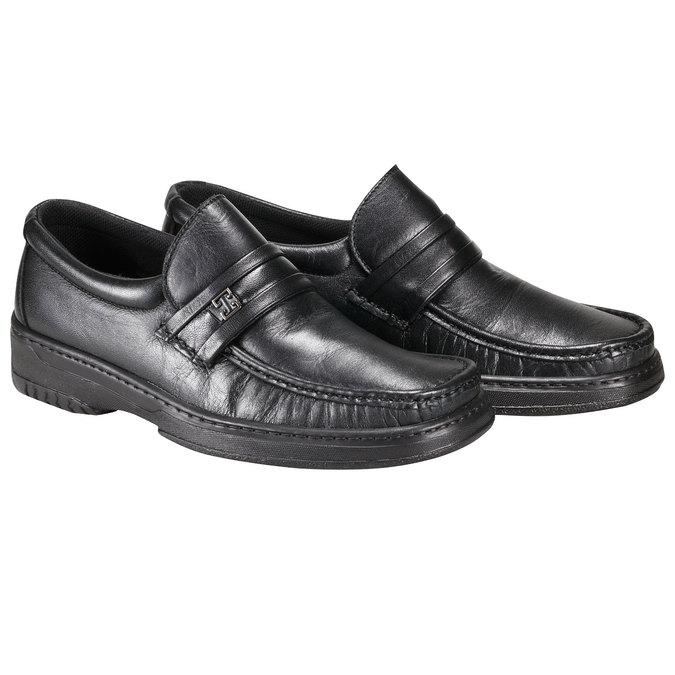 Kožená obuv pinosos, černá, 814-6120 - 26