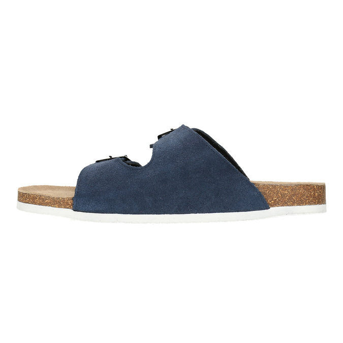 Kožená domácí obuv pánská de-fonseca, modrá, 873-9610 - 26