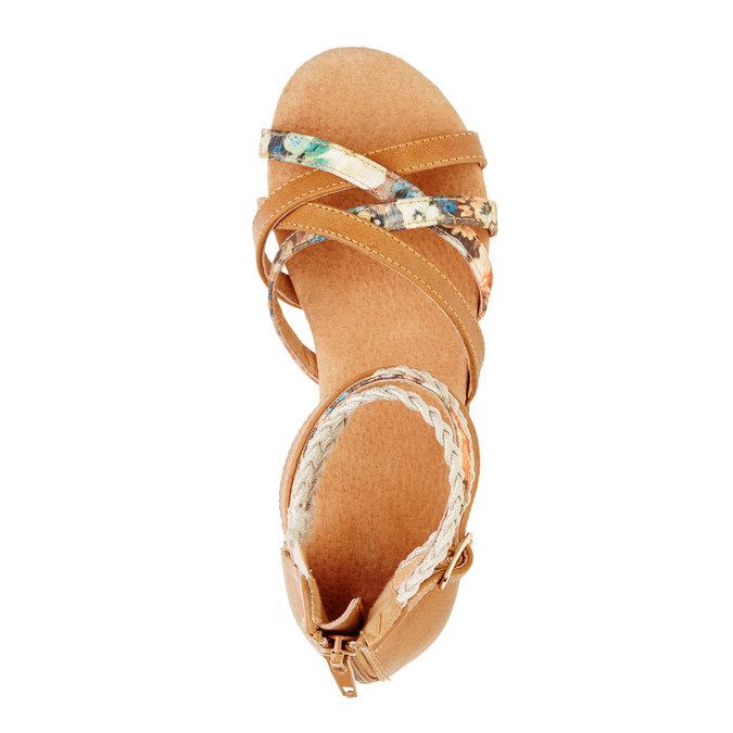 Sandály s pásky kolem kotníku bull-boxer, hnědá, 461-3001 - 19