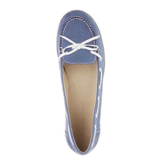 Dámské kožené mokasíny weinbrenner, modrá, 534-9116 - 19