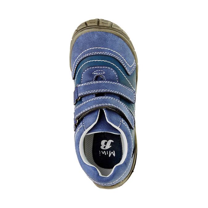 Dětské ležérní tenisky na suchý zip mini-b, modrá, 311-9212 - 19