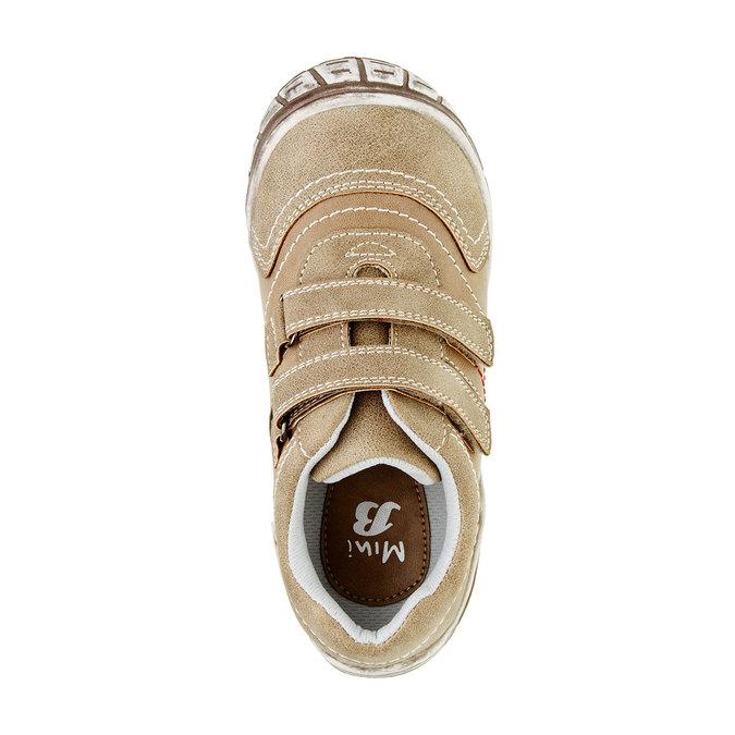 Dětské ležérní tenisky na suchý zip mini-b, hnědá, 311-3212 - 19