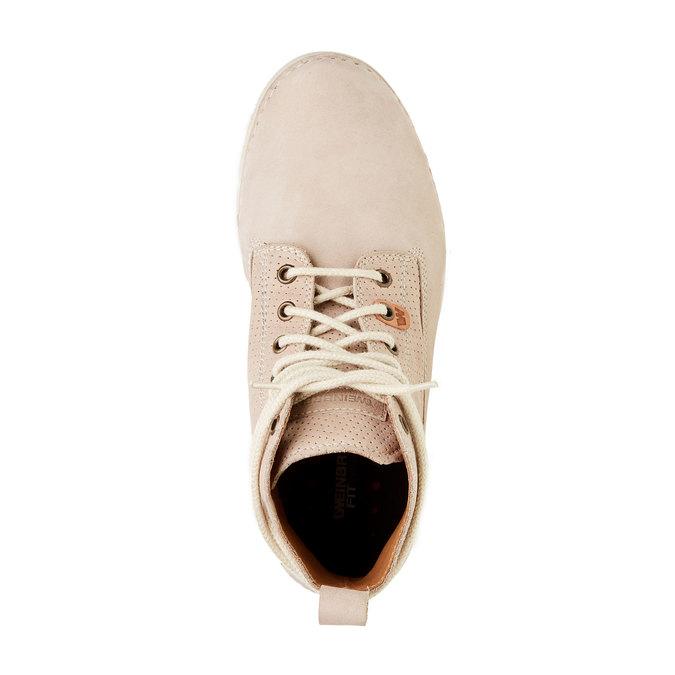 Kožené kotníčkové boty weinbrenner, béžová, 594-2531 - 19
