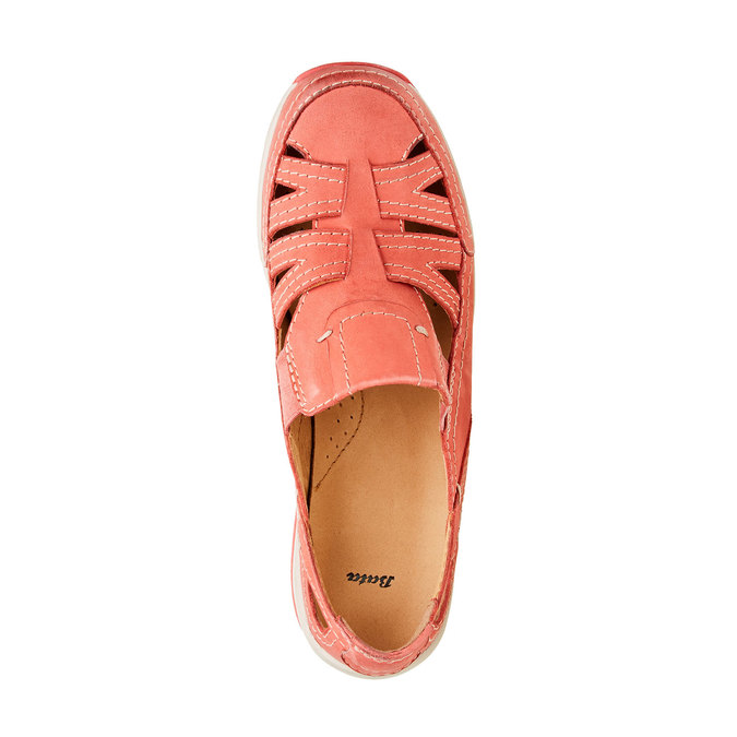 Neformální kožené polobotky bata, červená, 524-5116 - 19